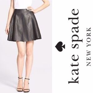 Kate Spade Genuine Leather Circle Skirt , Sz 6